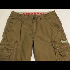 Men's Union Bay Tan Khaki Cargo Shorts Size 28